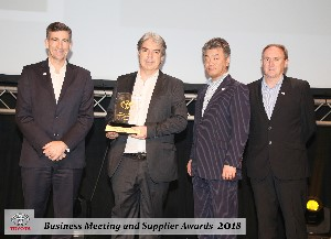 MD Kevin White receiving Toyota Superior Service Award